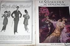LE GAULOIS DU DIMANCHE 1914 N° 214 SOUS LE MASQUE