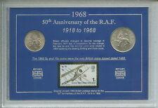 La Royal Air Force RAF Armée Britannique forces armées de la première guerre mondiale la Seconde Guerre mondiale Coin & Stamp Ensemble Cadeau