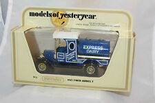 Matchbox Yesteryear #Y-3 1912 Ford Model T Tanker, Express Dairy, NIB