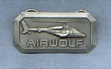 Airwolf TV Series Helicopter 3-D Relief Chest Metal Logo Pin NEW UNUSED