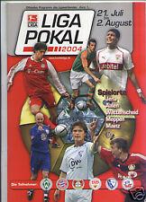 LIGA-POKAL 2004 mit Bayern München, Hansa Rostock, VfB Stuttgart, Werder, ...