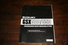 Werkstatthandbuch Suzuki 500 / 550, Stand 1984