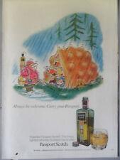 1971 Print Ad Passport Scotch ~ Full Tent Campers Al Jaffe Cartoon Art Page
