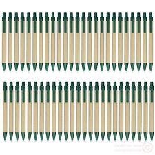 lot 50pcs Green Plastic clip barrel paper ball pen,ECO friendly recycled idea