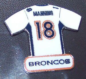 Denver Broncos Peyton Manning white jersey lapel hat pin NFL
