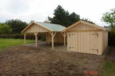 Doppelcarport 6 x 6 m Holzgarage Satteldach-Carport 600x600 Überdachung neu