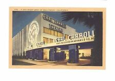 Holllywood, CA Earl Carroll Theatre unused linen-type postcard Longshaw