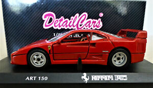1/43 Detail Cars Ferrari F40 in Red. Excellent and Boxed. ART.150.