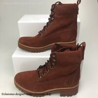 TIMBERLAND Courmayeur Valley 6 Inch Boots Womens Rust Brown Casual RRP £170.00