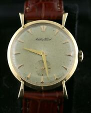 VINTAGE!  Mathey Tissot Men's 14k Gold Wristwatch. Circa 1950's  NICE!