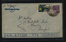 Brazil  Hindenberg Zeppelin flight cover to England       MS1019