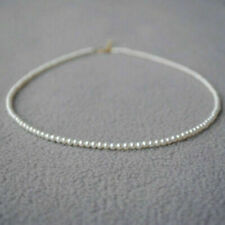 "mini AAA 2-3mm White Akoya pearl Necklace 18"" 14K Gold Magnet clasp"