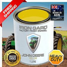 IRON GARD 1L Enamel Paint JOHN DEERE YELLOW Excavator Digger Loader Tractor Farm