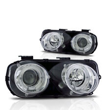 94-97 Acura Integra DC2 LS GS R JDM Dual Halo Projectors Chrome Head Lights Pair