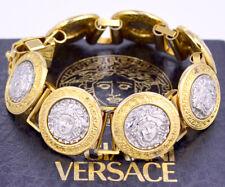 7e514f5ed911 Gianni Versace Medusa Pulsera Oro Y Plata v1794