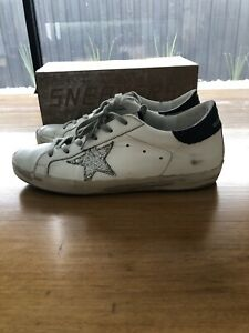 Golden Goose Women's Superstar Glitter Sneakers Size 39