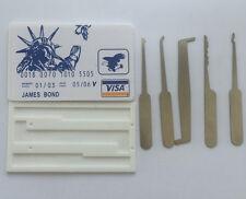 Credit Card Lock Pick Set Locksmith Mini Tools Bump Key James Bond + Gift Guide