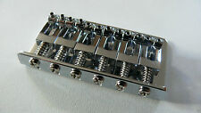 "NEW Bridge complet HARDTAIL chrome 73x40mm -2""1/16- ""strings by front"" - guitare"