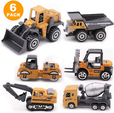 6 Pack Construction Engineering Vehicle Toys