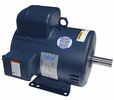 Leeson Electric Motor 5 HP 131616.00 C184K34DB3B 3450 rpm 1-PH 230 VAC Single PH