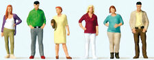 Preiser 1/87 HO Scale 10726 Standing Passers-By People Standing 10726  Set of 6