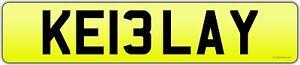 Personalised Registration Number Plate KEILA Y Keiley KEELAY Keelee KEELEY Kiely
