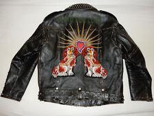 Original Gucci King Charles Spaniel Biker Leather Jacket Lederjacke 10.000 USD