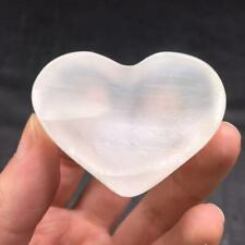 New listing Natural Gypsum Selenite Quartz Ashtray Heart-shaped Bowl Healing Decoration 38g