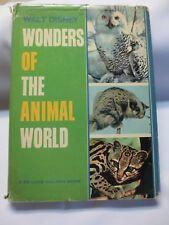 Walt Disney Wonders of the Animal World De Luxe Golden Book 1964 HBDJ