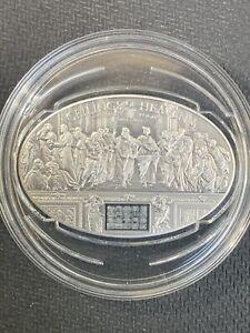 Cook Islands 5 Dollars 2013 Sliver Coin Ceilings of Heaven Series,Raphael's Room