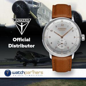 Junkers BAUHAUS Swiss Hand Wind ETA 7001 Watch 40mm Case Silver Dial 6030-5