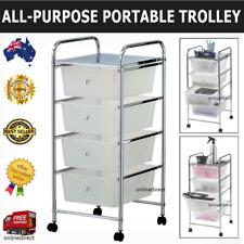 Mobile Trolley Bathroom Hairdressing Storage Organiser Cart Office Drawer Shelf