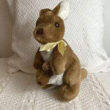 "Australian Catalogue Company Kangaroo Mom Joey Plush Stuffed Animal 8"" Marsupial"