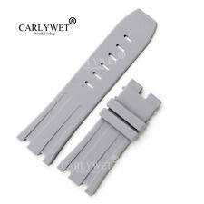 28mm Grey Waterproof Silicone Rubber Watch Band For 42mm AP Royal Offshore 42mm