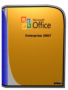 Microsoft Office Enterprise 2007 DVD Disk for PC 32/64bit compatible