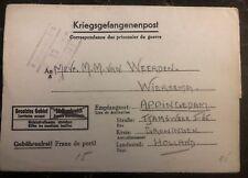 1944 Germany Stalag 12D POW Prisoner of War letter Cover to Groningen Weerden