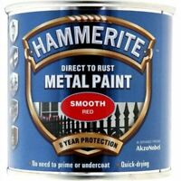 NEW HAMMERITE DIRECT TO RUST METAL PAINT SMOOTH RED- 250ML 5084869 BEST QUALITY