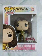 💥Funko POP WW84: #332 Wonder Woman Gold Armor (Special Edition) Vinyl Figure💥