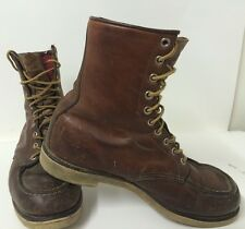 VINTAGE Size 9 RED WING Mens 1950s 60s Work Boots Leather Rough Hipster Hunting