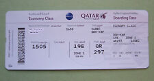 used boarding pass QATAR Airways ticket Doha Kyiv -  for collectors