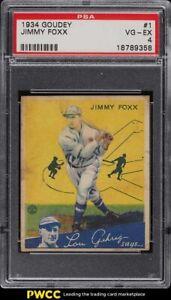 1934 Goudey Jimmy Foxx #1 PSA 4 VGEX