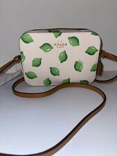 Coach Mini Camera Bag Crossbody with Lime Print Im/Chalk Green Multi