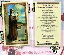 Oracion a Santa Clara de Asis - Spanish - Laminated Holy Card