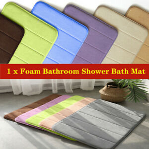 Memory Foam Bathroom Bedroom Floor Shower Mat Rug Non-slip Absorbent for safety