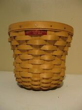 Pre-Owned 2003 Handmade Longaberger Homestead Tour Basket w/Liner & Protector