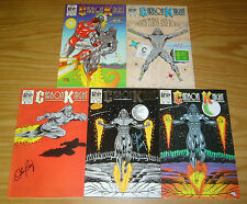 Carbon Knight #1-4 VF/NM complete series + 2nd print - black super hero - signed