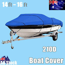 14-16ft / 5.1m-2.3m Waterproof  Trailerable Jumbo Boat Cover Heavy-Duty 210D