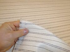 Job Lot 10m - IVORY BEIGE - Striped Weave Upholstery Fabric - FREE P&P