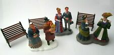 Small Lot of Lemax Figures & Metal Benches  - Winter Christmas Village