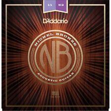 D'addario NB1152 Nickel Bronze Acoustic Strings 11-52
